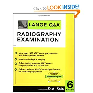 Lange Q&A - Radiography Examination  by D.A. Saia