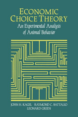 Economic Choice Theory: An Experimental Analysis of Animal Behavior