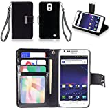 IZENGATE(TM) Executive Premium PU Leather Wallet Flip Case Cover Folio for Samsung Galaxy S2 SII I727 Skyrocket AT&T (Black)