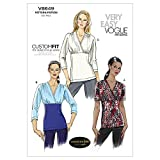 Vogue Patterns V8649 Size F5 16-18-20-22-24 Misses' Top