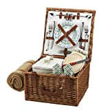 Picnic at Ascot Cheshire Basket for 2 with Blanket, Gazebo