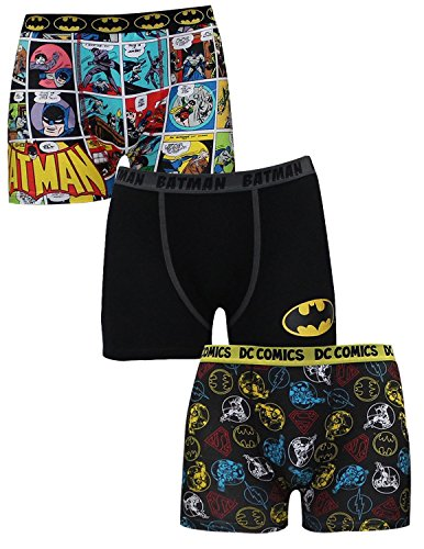 (Pack of 3) Mens BATMAN & DC COMICS (SUPERMAN, FLASH) Boxer Shorts S Multicolor