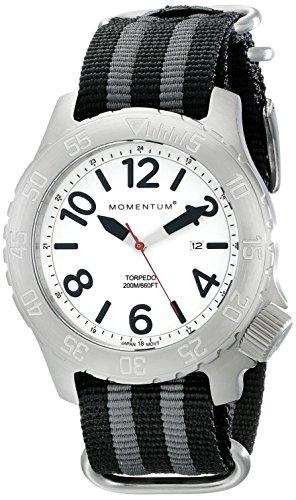 Momentum 1M-DV74L7S - Reloj para hombres, correa de nailon color negro