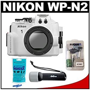 Nikon WP-N2 Waterproof Underwater Case Housing for 1 J3 & S1 Digital Camera & 10-30mm Lens with LED Torch + Accessory Kit
