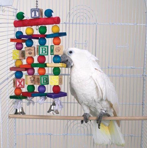 Bird Toy - Brainy Bird Building Flocks Toy - Great Toy for Large Birds