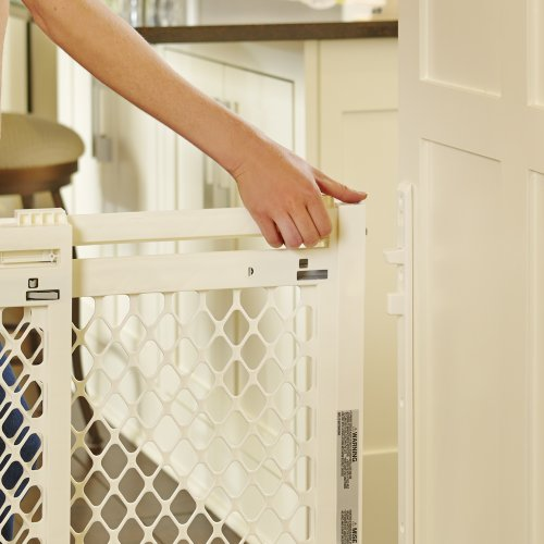 North States Industries Supergate Extra-Wide Gate, Ivory
