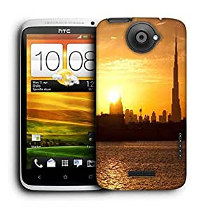 Snoogg Sunset In Dubai Printed Protective Phone Back Case Cover For HTC One X