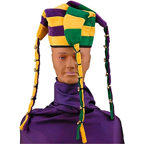 Striped Jingle Bell Jester Adult Hat