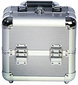 Beauty-Boxes Valene Silver Cosmetics and Make-up Beauty Case