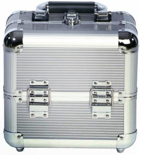 Beauty Box Valene Silver Cosmetics & Make-up Beauty Case