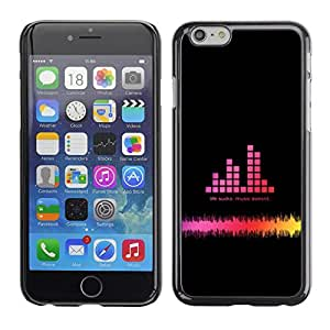 Omega Covers - Snap on Hard Back Case Cover Shell FOR Apple Iphone 6 Plus / 6S Plus ( 5.5 ) - Dj Sound Pink Black Disco Sound