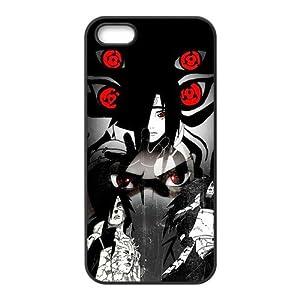 Naruto Uchiha Madara Cool Mangekou Sharingan Rubber Case Cover for Apple Iphone 5 Customed Design Fashiondiy