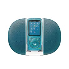 buy Sony Nwz-E464K E464 8Gb Mp3 Player And Active Speaker Bundle Nwze464Kb Blue