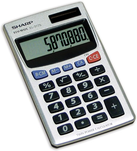School Specialty Sharp Basic Calculator, Extra Large 8-Digit LCD Display