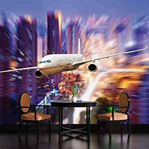 Airplane speed wallpaper mural for Aviation wall mural