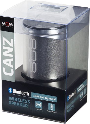 808 Canz Bluetooth Wireless Speaker - Silver (Sp880Sl)