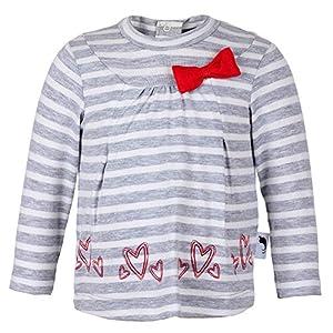 Baby Mini Girls Niñas Camisa de manga larga, gris