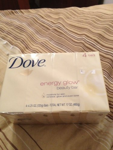Dove Energy Glow Soap (4 Bars Of Soap)