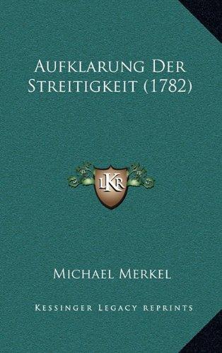 Aufklarung Der Streitigkeit (1782)