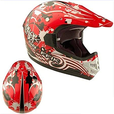 Casque moto cross CHOK GRAFFIK 2012 - Rouge / Blanc