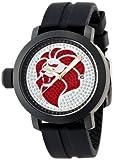 [ネスタブランド]NESTA BRAND 腕時計 15周年記念モデル 300本限定モデル  ホワイト/レッド文字盤 ステンレス(BKPVD)ケース ラバーベルト 150M防水 スワロフスキー NB45BSV メンズ