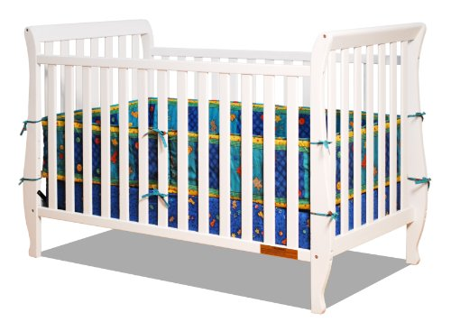 Athena Naomi 4 In 1 Crib With Toddler Rail, White