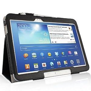 ELTD® Housse de haute qualité pour Samsung Galaxy Note 10.1 2014 Edition Tablette Avec Stand de positionnement support et le sort de veille (Pour Samsung Galaxy Note 10.1 2014 Edition, Noir)