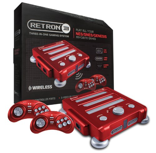Hyperkin Retron 3 Video Game System For Nes/Snes/Genesis - Red front-415782