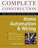 img - for Home Automation & Wiring by James Gerhart (1999-03-31) book / textbook / text book