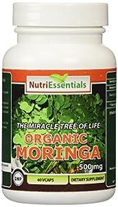 Nutri Essentials organic Moringa Veg Capsules, 500 mg, 60 Count