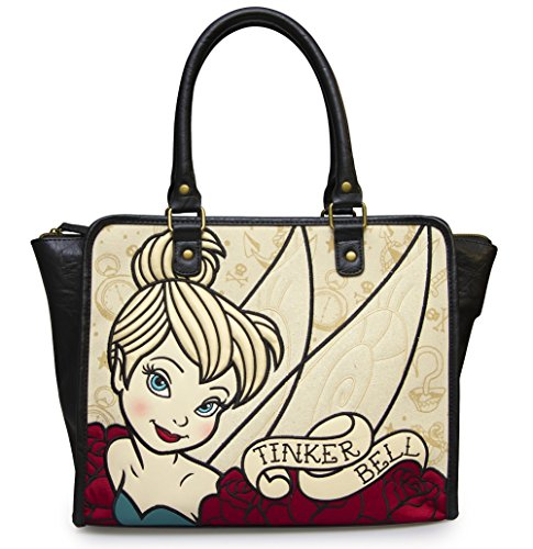 Loungefly Tinkerbell Tattoo Art Faux Leather Tote