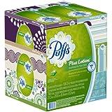 Puffs Plus Lotion Facial Tissues; 6 Family Boxes; 124 Tissues per Box