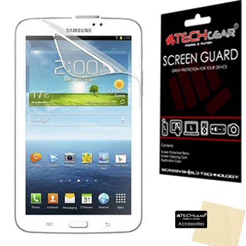 TECHGEAR LCD-Displayschutzfolie für 17,8 cm (7 Zoll) Samsung Galaxy Tab 3 P3200 / P3210 (SM-T210 / SM-T211) (inklusive Reinigungstuch und Aufziehhilfe) transparent