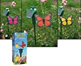 Pack of 3 Fluttering Butterflies Solar Powered Garden Flying Butterfly