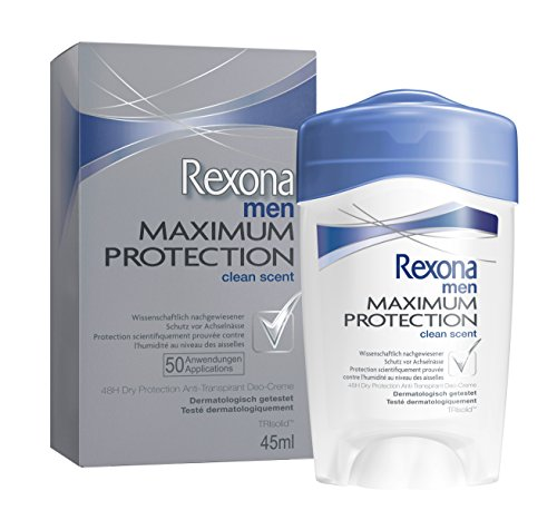 Rexona, Deodorante stick da uomo Maximum Protection, Clean Scent, 45 ml
