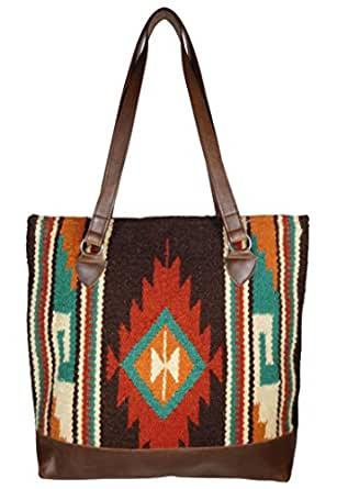 Amazon.com: Large Native American Style Wool Tote (Cochiti): Clothing