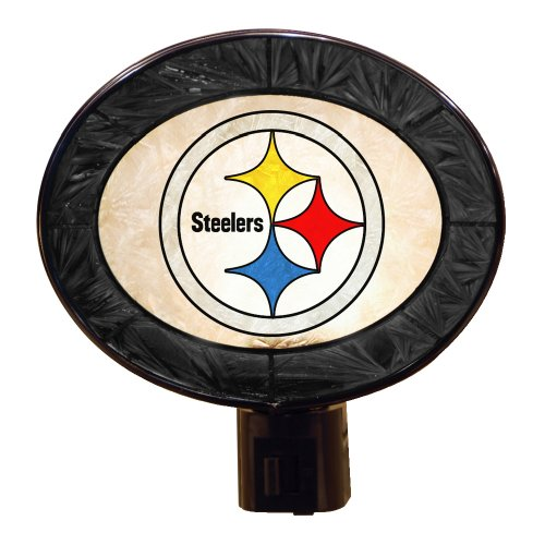 Art Glass Night Light - Pittsburgh Steelers from The Memory Company