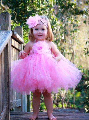 Baby Tutu Dress with Matching Silk Flower Headband