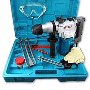 """Heavy-Duty 3-Function 1"""" Impact Hammer Drill, SDS-Plus Bits, Chisels"""