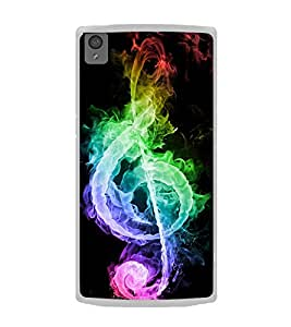 Colourful Music Sign 2D Hard Polycarbonate Designer Back Case Cover for OnePlus X :: One Plus X :: One+X