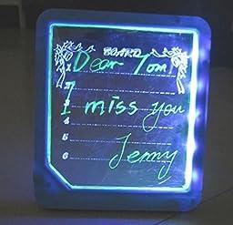 EWIN(R) LED Illuminated Erasable Message Note Board (Blue)