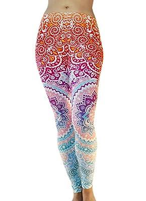 Comfy Yoga Pants - Dry Fit - Slimming Mid Rise Cut - Printed Yoga Leggings