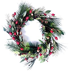 #1 Best Selling Christmas Wreaths - Premium Decor Holiday Door Christmas Wreath, Home Decorations, Handcrafted with Natural Materials - Decorations for Christmas, Thanksgiving, and Winter Holidays