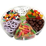 Candy Assortment Gift Basket, Large Variety Pack Includes: Gummies, Pretzels, Peanuts & More.