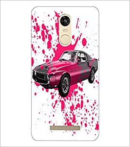 PrintDhaba Car D-2824 Back Case Cover for XIAOMI REDMI NOTE 3 PRO (Multi-Coloured)