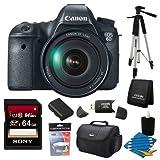 Canon EOS-6D Digital SLR Camera Kit with EF 24-105mm F3.5-5.6 IS STM Lens - Special Promotional Bundle