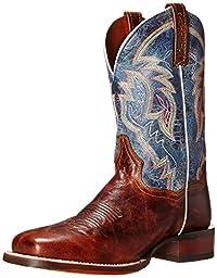 Dan Post Men\'s Teton Western Boot, Tan/Blue, 11 D US