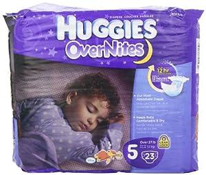 Huggies Overnites Diapers Size 5, Jumbo Pack, 23 ct