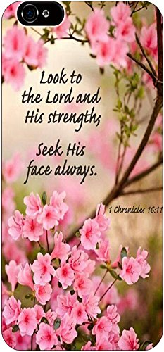 Look To The Lord And His Strengths Seek His Face Always 1 Chronicles 16:11 Christian Quote Bible Verses Pattern Print High Quality Hard Plastic Cover Protector Sleeve Case For Apple Iphone 6 4.7 Inches front-1060281