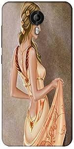 Snoogg Elegant Woman 2623 Designer Protective Back Case Cover For Micromax Canvas Nitro 3 E455